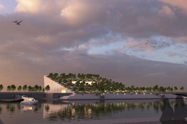 На Смоленке планируется построить террасный парк  с библиотекой русского авангарда